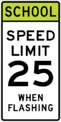 S5-1 School Speed Limit (#) When Flashing - Customizable