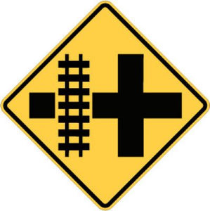 W10-2L Highway-Rail Crossing