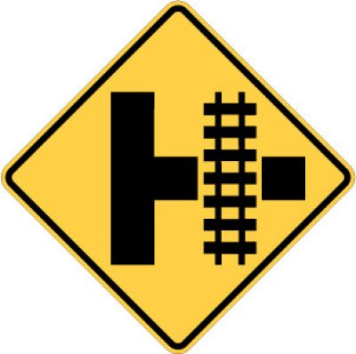 W10-3R Highway-Rail Crossing