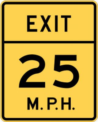 W13-2 Exit (Number) MPH - Customizable
