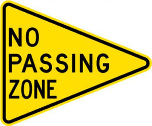 W14-3 No Passing Zone
