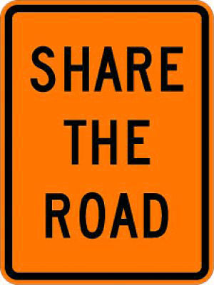 W16-1P Share The Road