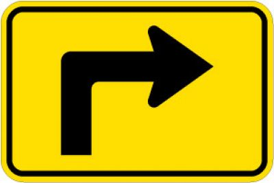W16-6PR Right Turn Arrow