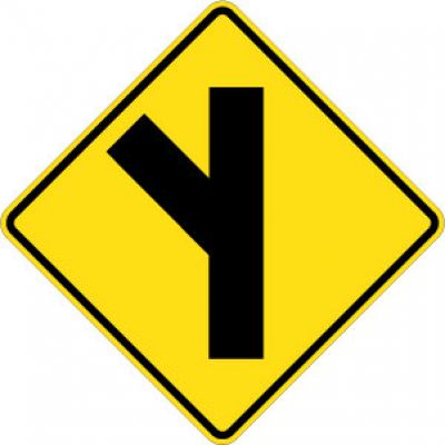 W2-3L 45 Degree Left Side Road