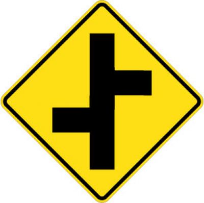 W2-7L Offset Cross Road Left