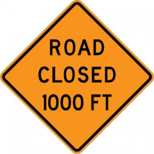 W20-3 Road Closed