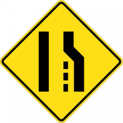 W4-2R (Right) Lane Reduction