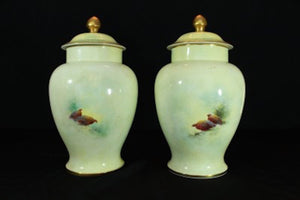 LIMITED EDITION COALPORT VASES BY RICHARD BUDD  -  SKU319
