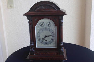MAHOGANY MANTEL BRACKET CLOCK 1880  -  SKU86