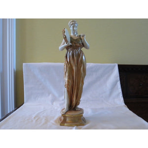 ROYAL WORCESTER FEMALE FIGURE WITH TAMBOURINE  -  SKU317