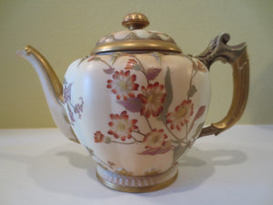 ROYAL WORCESTER FLUTED TEAPOT WITH LID  -  SKU208