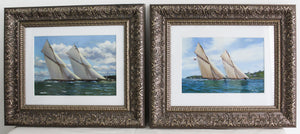 A PAIR OF MARINE OIL PAINTINGS BY STEPHEN RENARD  -  SKU856
