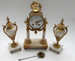 FRENCH CLOCK SET CIRCA 1880