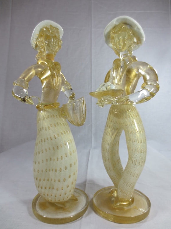 PAIR OF ITALIAN GLASS FIGURINES SKU128