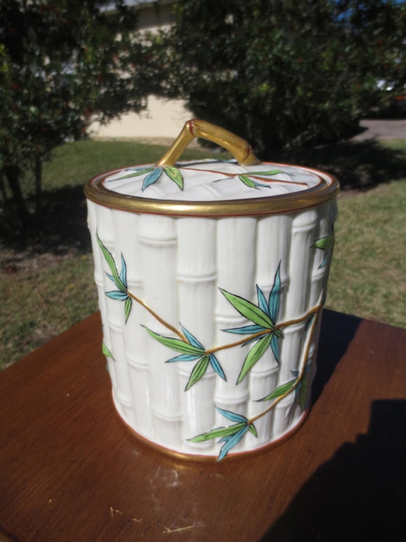 ROYAL WORCESTER BAMBOO BISCUIT BARREL  -  SKU274