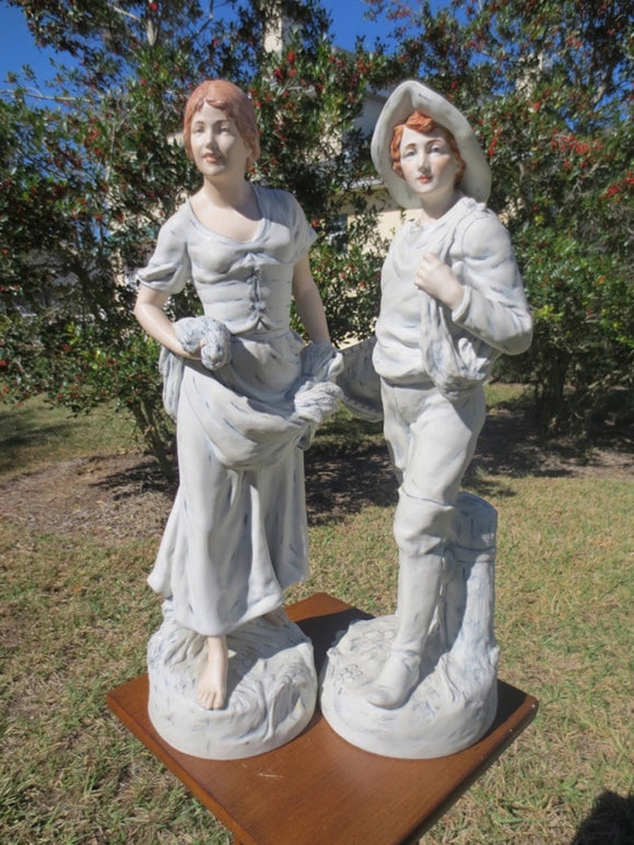 PAIR OF ROYAL DUX FIGURES  -  SKU246