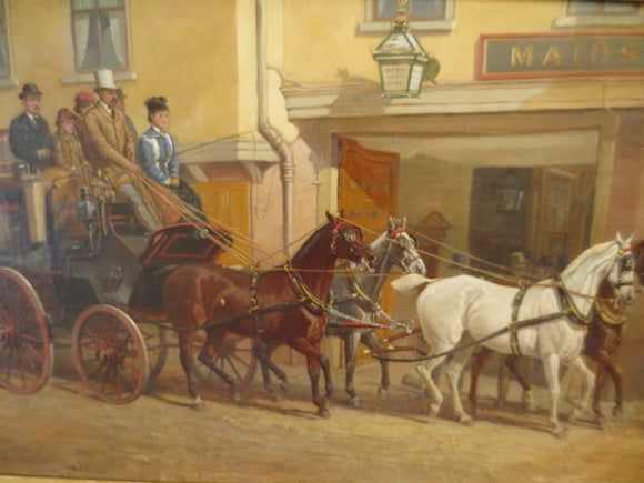 'COACH SCENE PAINTING'     BY JOHN STURGESS  -  SKU183
