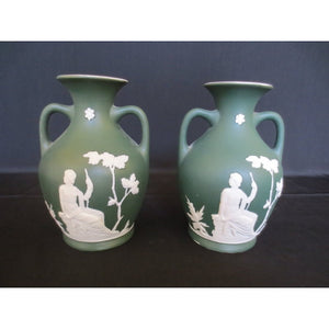 PAIR OF WEDGWOOD STYLE VASES  -  SKU239