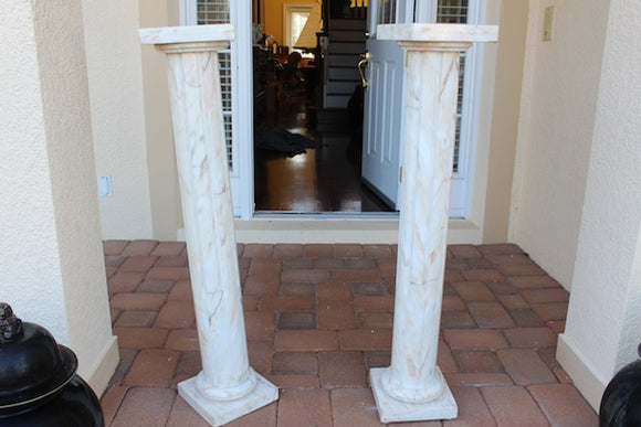 PAIR OF MATCHING MARBLE STANDS SKU150