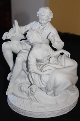 ANTIQUE BAVARIAN  PORCELAIN FIGURAL GROUP  -  SKU192