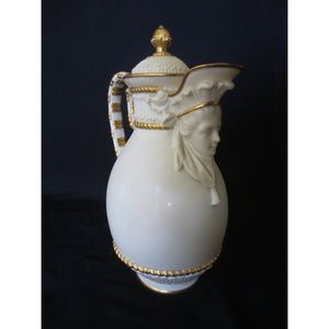 ROYAL WORCESTER CHOCOLATE JUG WITH MASK SPOUT  -  SKU306