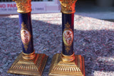 PAIR OF SEVRES CANDLESTICKS  -  SKU568