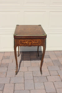 MARQUETRY CARD TABLE  -  SKU672