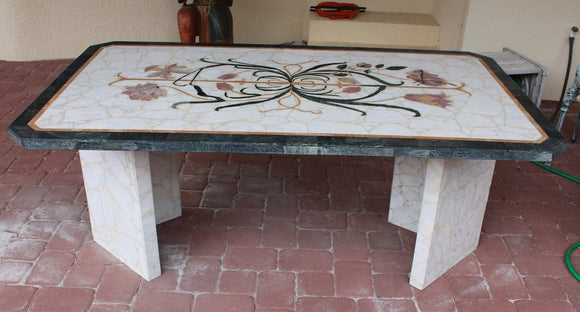 ITALIAN MARBLE TABLE  -  SKU273