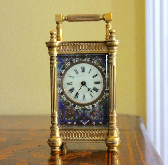 CLOISONNÉ CARRIAGE CLOCK  -  SKU710