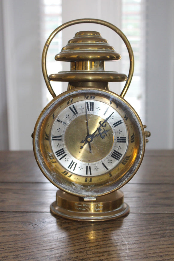 BRASS LANTERN CLOCK  -  SKU339