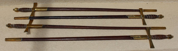 SET OF FOUR MILITARY DRESS SWORDS BY LEOPOLD VERCH  -  SKU604