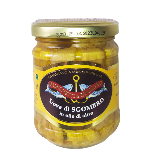 Mackerel Eggs jar 200 gr. - Sicilian Fish Preserves