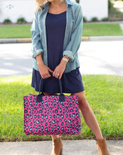 Load image into Gallery viewer, PINK LEOPARD TOTE BAG