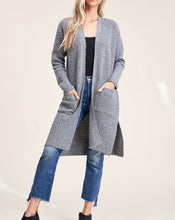 Load image into Gallery viewer, RIBBED LONGLINE DUSTER CARDIGAN - K&E FASHIONS