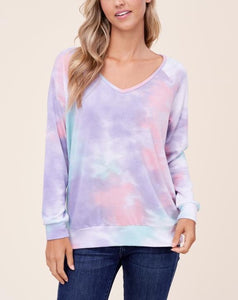 LUCY TIE DYE FRENCH TERRY TOP