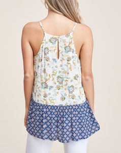 ELLE SMOCKED HALTER TOP