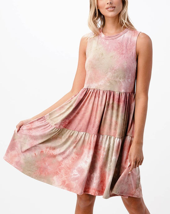 LIA TIE DYE BABYDOLL DRESS