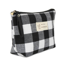 Load image into Gallery viewer, BUFFALO PLAID COSMETIC BAG