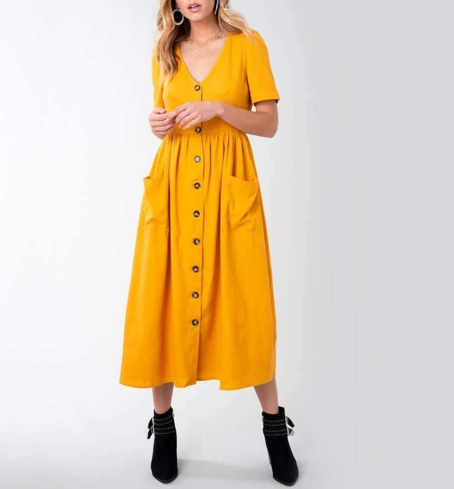 CHARLOTTE MIDI DRESS - K&E FASHIONS