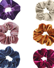 Load image into Gallery viewer, VELVET SCRUNCHIES