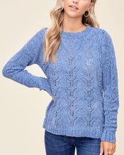 Load image into Gallery viewer, AUDREY CHENILLE HOLE-KNIT SWEATER