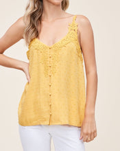 Load image into Gallery viewer, CROCHET SWISS-DOT BUTTON TANK TOP - K&E FASHIONS