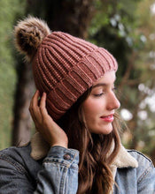 Load image into Gallery viewer, NIKITA SOFT RIB KNIT POM POM BEANIE
