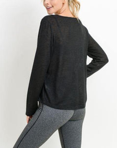 CARINA HACCI PULLOVER WITH LAYERED HEM - K&E FASHIONS