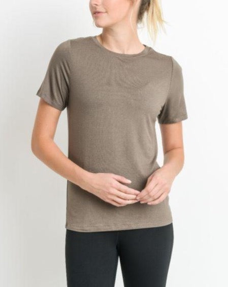 HEIDE ESSENTIAL CREW NECK TOP
