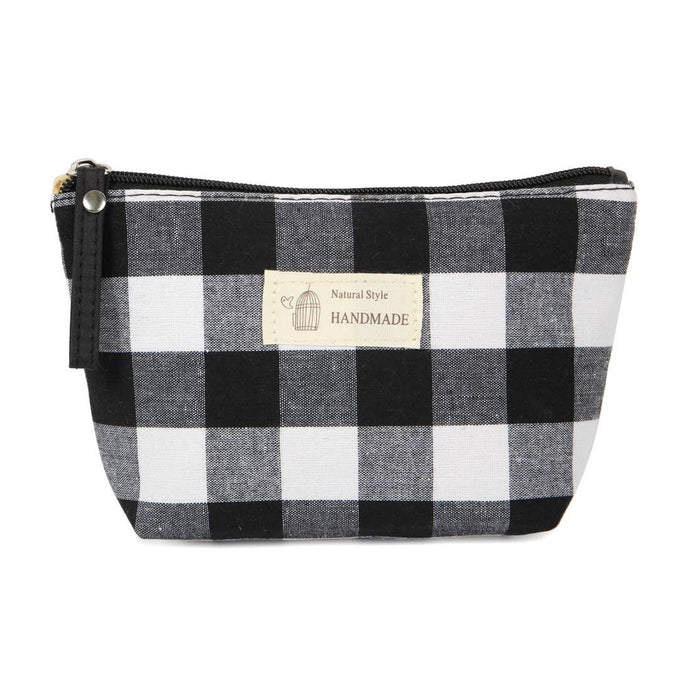 BUFFALO PLAID COSMETIC BAG