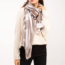 Load image into Gallery viewer, CASHMERE BRUSHSTROKE PRINT SCARF - K&E FASHIONS