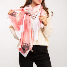 Load image into Gallery viewer, CASHMERE FLORAL WATERCOLOR SCARF - K&E FASHIONS