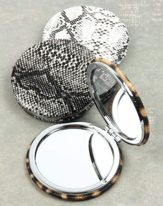 ANIMAL PRINT COMPACT MIRROR - K&E FASHIONS