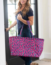 Load image into Gallery viewer, ULTIMATE PINK LEOPARD TOTE